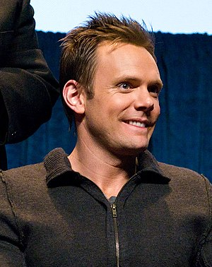 Joel McHale at a panel for Community at PaleyF...