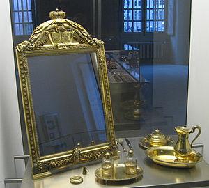 Mirror - 18th century vermeil mirror in the Musée des Arts décoratifs, Strasbourg
