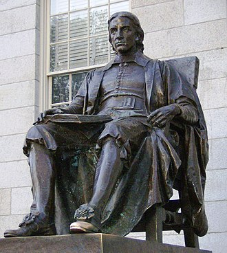 John Harvard (clergyman) - Image: John Harvard statue