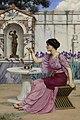 John William Godward - Threading Beads, 1905.jpg