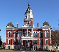 Johnson County, Nebraska courthouse from W 2.JPG