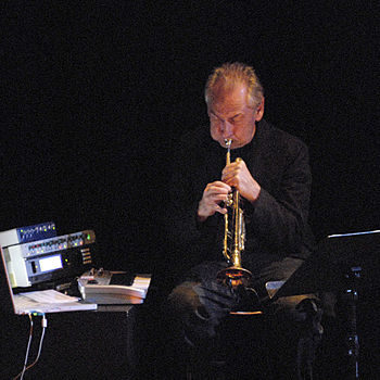 Jon Hassell performing at Stockholm JazzFest09