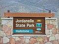 Jordanelle State Park-Hailstone section sign, Apr 16.jpg