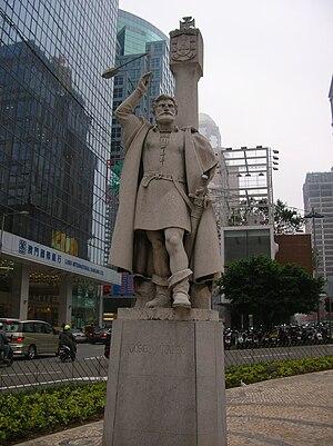 Jorge Álvares - Jorge Álvares statue in Macau