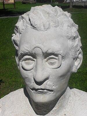Josef Váchal - Bust of Josef Váchal in Prášily