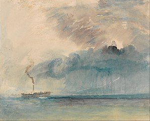 A Paddle-steamer in a Storm