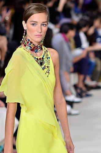 Joséphine Le Tutour - Josephine Le Tutour walking the runway for Ralph Lauren in 2014.