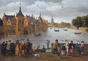 South Holland - The Binnenhof by the Hofvijver, 1625
