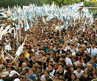 Kirchnerism - Rally of youth belonging to La Cámpora. Taken April 2012.