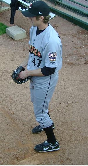 Jeremy Sowers - Sowers during his tenure with the Buffalo Bisons, Triple-A affiliates of the Cleveland Indians, in 2008.