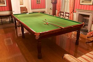 Judges' Lodgings, Lancaster - A Regency English billiards table by Gillows at Judges' Lodgings.