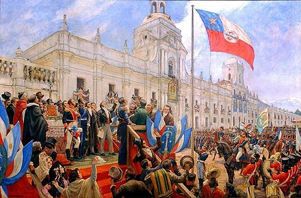 The Chilean Declaration of Independence on 18 February 1818 JuraIndependencia.jpg
