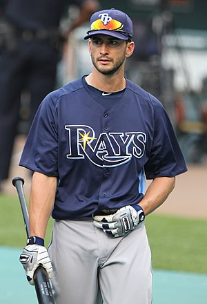 Justin Ruggiano - Ruggiano during his tenure with the Tampa Bay Rays in 2011