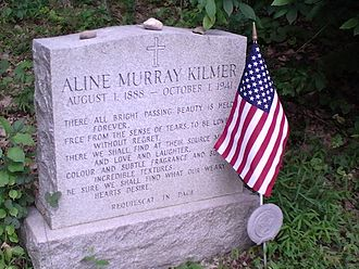 Aline Murray Kilmer - The gravestone of Aline Kilmer, located in Saint Joseph's Cemetery in Newton, New Jersey