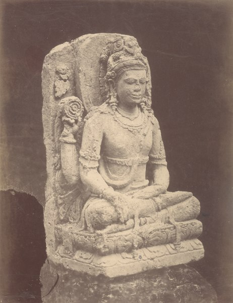 File:KITLV 87691 - Isidore van Kinsbergen - Sculpture of Shiva comes from Wonosobo, moved to the Museum of the Batavian Society of Arts and Sciences in Batavia - Before 1900.tif