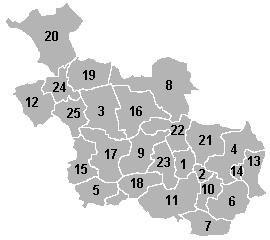 Kaart Overijssel genummerd