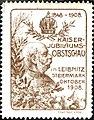 Kaiser-Jubiläums-Obstschau Leibnitz 1908 Vignette braun.jpg