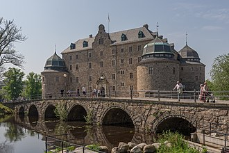 Svartån, Närke - Kanslibron over Svartån at Örebro Castle.
