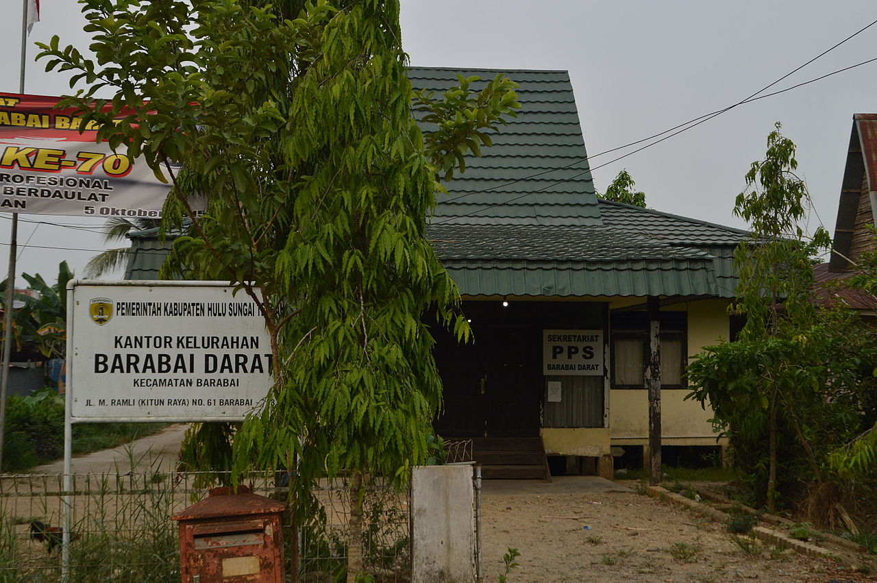 File:Kantor Kelurahan Barabai Darat, Hulu Sungai Tengah