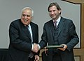 Kapil Sibal and the Minister of Science & Technology, Austria, Dr. Johannes Hahn signed an agreement on S&T Cooperation between India and Austria, in New Delhi on November 30, 2007.jpg