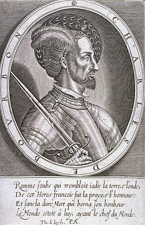 Thomas de Leu - Charles III de Bourbon, engraving by Thomas de Leu
