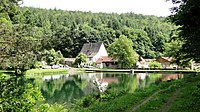 Kartause Grünau with fish pond.JPG