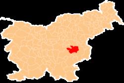 Vị trí của Sevnica ở Slovenia
