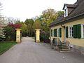 Kassel karlsaue parkeingang heinrich heine str am abend ds wv 04 2011.jpg