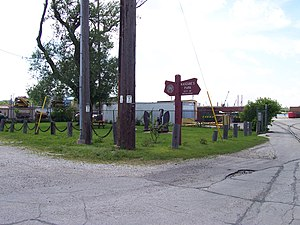Jones Island, Milwaukee - View of Kaszube's Park from the street