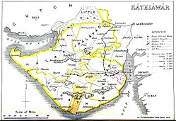 1855 map of Kathiawar