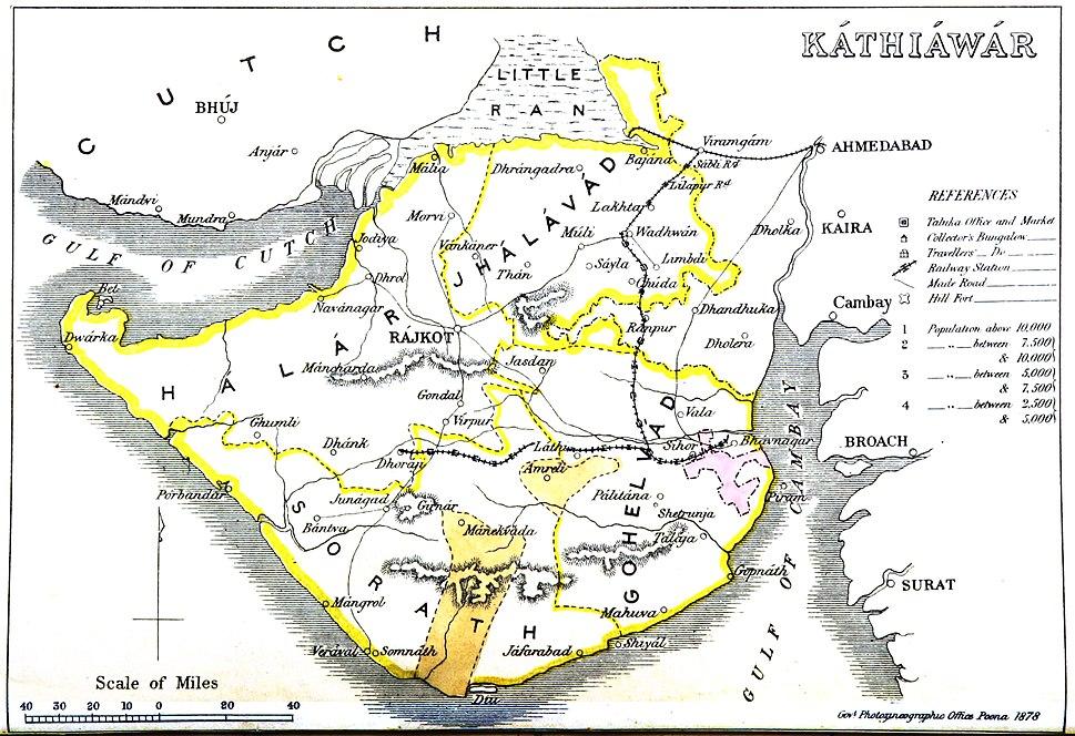 Kathiawar map