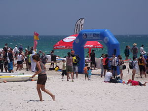 Cottesloe, Western Australia - Kayaking competition at Cottesloe beach on a Western Australian Sunday