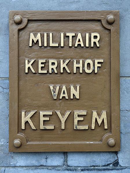 Keiem (municipality of Diksmuide, province of West Flanders, Belgium): Belgian military cemetery (WW 1)