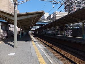 Yūkarigaoka Station - Image: Keisei Yūkarigaoka Sta 006