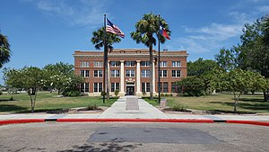 The Kenedy County Courthouse in Sarita