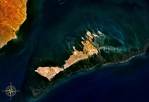 Kerkennah Islands - Kerkennah Islands seen from space
