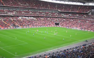 2011 Football League Cup Final - The teams lining up for kick-off