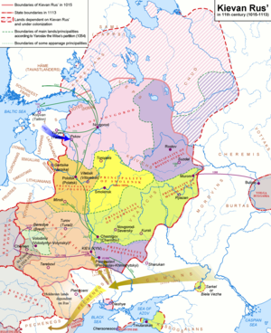 Estonia–Russia relations - Ugaunia, temporarily held by  Kievan Rus 1030–1061