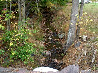 Kinney Run - Kinney Run near its headwaters, looking upstream (October 2013)
