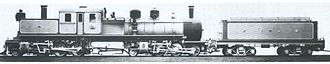 Rail transport in Bolivia - Vintage photo of Kitson– Meyer by Beyer Peacock for the Antofagasta - Bolivia Railroad Company