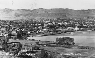 Upper Klamath Lake - Klamath Falls and Lake Ewauna in 1930