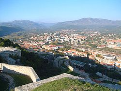 View over Knin