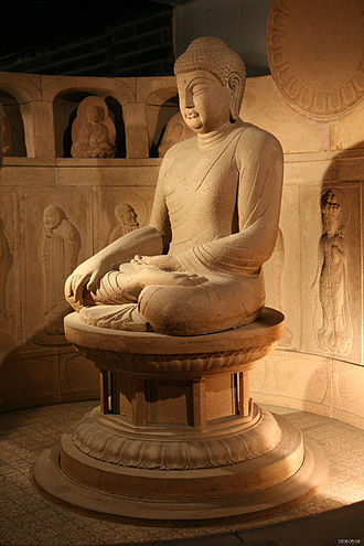 Buddhahood - Seated Buddha, from the Seokguram, Silla.