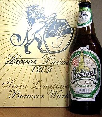 """Lwówek Śląski - Famous beer from Lwówek Śląski's Brewery - """"Lwówek Książęcy"""""""
