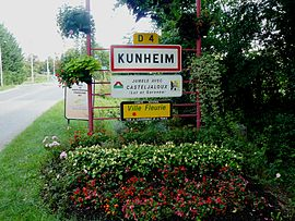 The road into Kunheim