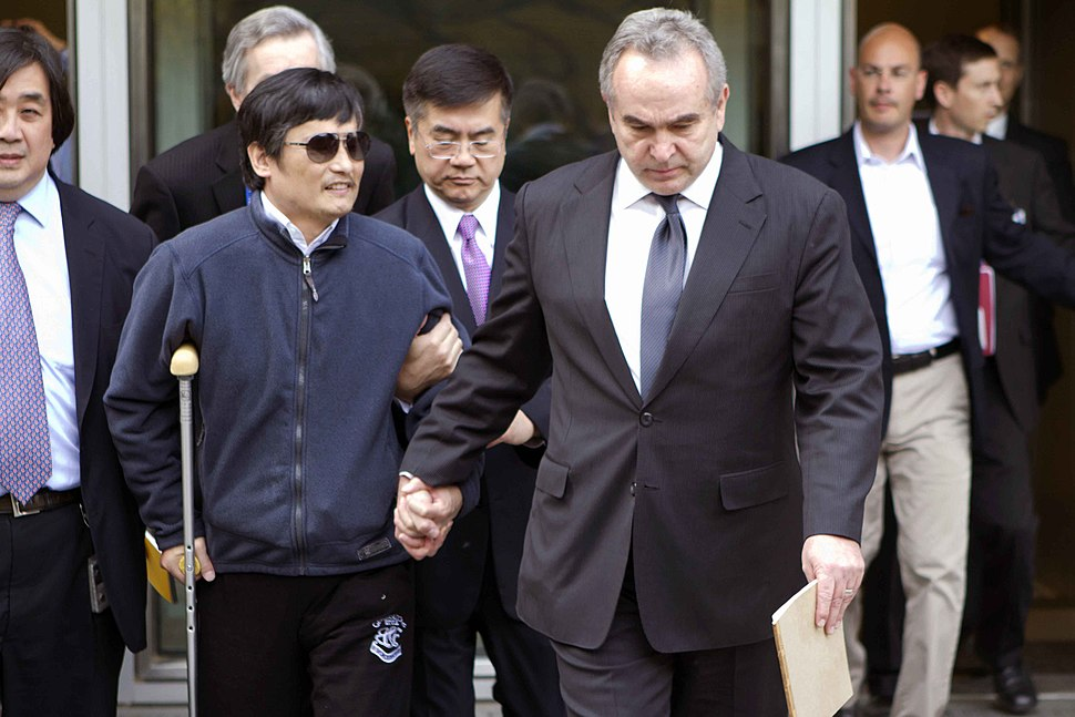 Kurt Campbell with Chen Guangcheng at US Embassy May 1, 2012.jpg