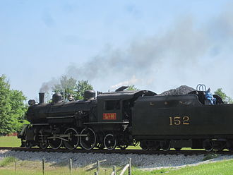 L & N Steam Locomotive No. 152 - Image: L&N 152 at Holton Valley