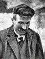 L'entraîneur-'pacemaker' français du Parc des Princes Bertin -ici en août 1908-, quatre fois lié au record mondial de l'heure cycliste, entre 1900 et 1908 (avec Baugé, Guignard et Wills).jpg
