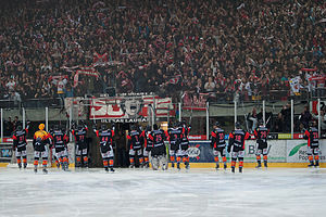 Lausanne HC -  Lausanne HC after a match, 1 April 2010