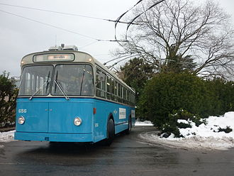 Trolleybuses in Lausanne - Image: La Batteuse n°656